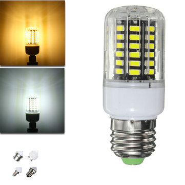 E27 E14 E12 B22 G9 GU10 5W 58 SMD 5730 LED Pure White Warm White Cover Corn Bulb AC110V