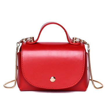 Women Faux Leather New Fashion Retro Handbag Crossbody Bag