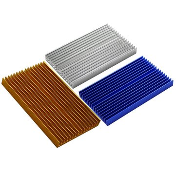 100*60*10mm Aluminum PCB Heatsink Cooler Radiator For DLP UV 3D Printer LED Electronic Integrated Circuit