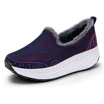 Women Shoes Warm Lining Rocker Casual Sneakers