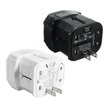 2100mA 5V DC US/UK/AU/EU Universal Travel Adapter Plug Dual Usb Charger
