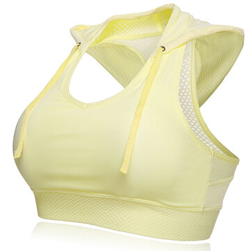 Soft Padded Shockproof Breathable Running Yoga Vest Sport Bra