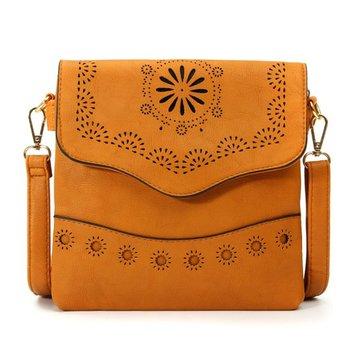 Epoca donne scava fuori borse crossbody fiore intagliato borse a tracolla borse a tracolla
