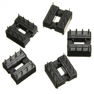 250pcs 2.54mm 8 Pin IC DIP Integrated Circuit Sockets Adaptor