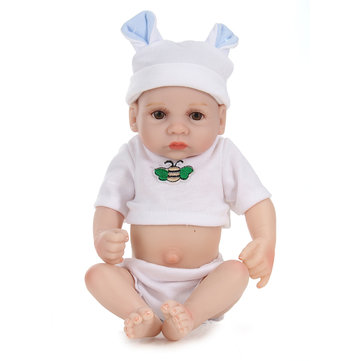 11inch Handmade Reborn Baby Doll Lifelike Baby Boy Play House Bath Toy