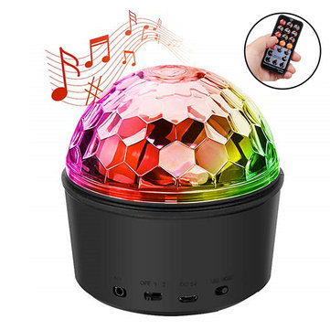 Wireless Bluetooth Night Light Remote Control Speaker LED Handsfree Mini Ball Headset for DJ Party Disco
