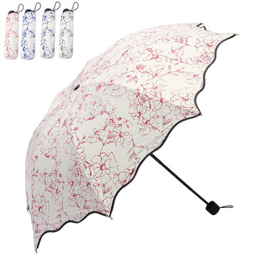 IPRee® Women 50+ Anti UV Sun Protection Windproof Flower Umbrella Folding Parasols Rain