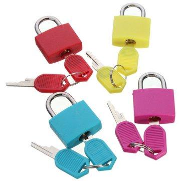 السفر البسيطة النحاس قفل مع 2 مفاتيح مجموعة حقيبة الأمتعة آمنة تأمين قفل