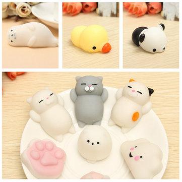 6PCS Mochi Duck Seal Cloud Cat Claw Squishy บีบเครื่องประดับน่ารักรักษาของเล่นของขวัญ Kawaii Decor