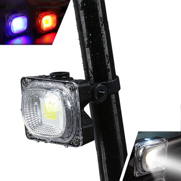 XANES TL05 500LM COB Bead White/Blue/Red Light 3 Modes Waterproof USB Rechargeable Bicycle Taillight