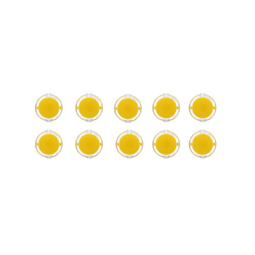 10Pcs Yellow Transparent 30MM Card Button Crystal Small Circular Arcade Game Push Button Switch