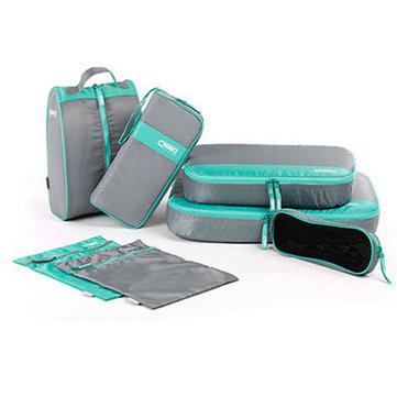 Women Nylon 7-Piece Set Simple Leisure Travel Bag