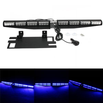 16 LED 24W Blue Emergency Traffic Advisor Vehicle Strobe LED Car Lights Bar