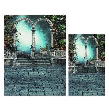 3x5ft 5x6.5ft Garden Platform Photography Backdrop Silk Poster Studio Prop Background