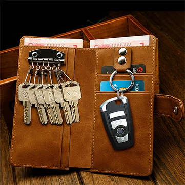 Men Multifunction Wallet Card Holder Car Key Holder
