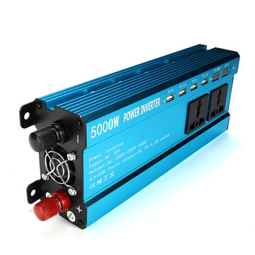 5000W Peak DC 12V/24V to AC 220V Solar Power Inverter LED Modified Sine Wave Converter