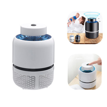 USB Powered White Black LED Mosquito Killer Night Lamp Fly Bug Insect Zapper AC220V