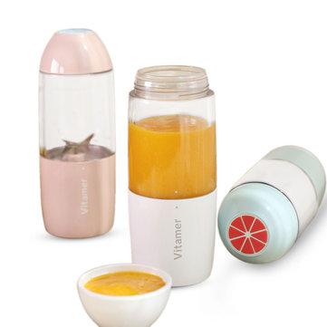 380ML USB Rechargeable Juicer Bottle Cup Vegetables Fruit Milkshake Smoothie Squeezer Reamer Bottle