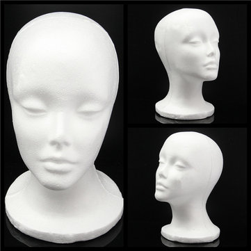 Foam Styrofoam Mannequin Cap Hair Wig Display Holder Female Head Model Hats Jewellery