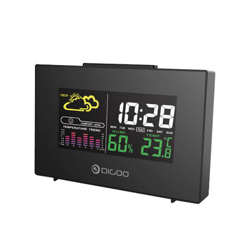 Digoo DG-C3 Wireless Color Backlit USB Hygrometer Thermometer Weather Forecast Station Alarm Clock