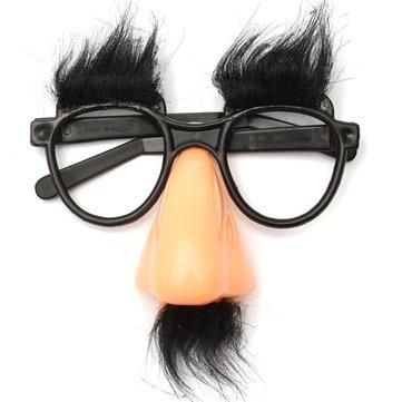 Komik Binme Cosplay Cadılar Bayramı Partisi Büyük Burun Sakalı Gözlükler