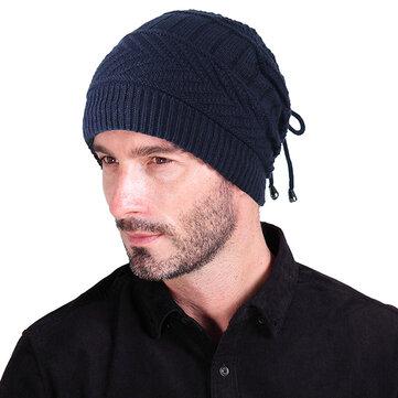 Multi-purpose Winter Plush Knit Beanie Hat Scarf Outdoor Ski Earmuffs Skull Cap