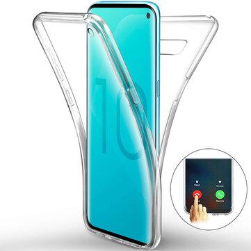 Full Body Clear Touchscreen Beschermhoes Voor Samsung Galaxy S10e / S10 / S10 Plus Ondersteuning Ultrasone Vingerafdruk Ontgrendelen