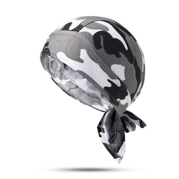 Wicking Camouflage Printting Cycling Headband Outdoor Sport Running Bandana Beanie Skull Cap