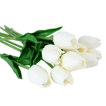 10PCS Fake Artificial Silk Tulips Flores Artificiales Bouquets Party Artificial Flowers For Home Wedding Decoration