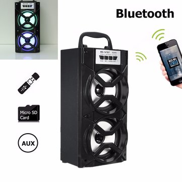 MS-147BT Portable Outdoor Bluetooth Wireless Super Bass Speaker USB TF AUX FM Radio