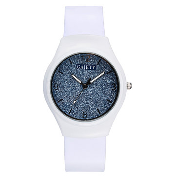 Silicon Strap Start Dial Display Ladies Watch
