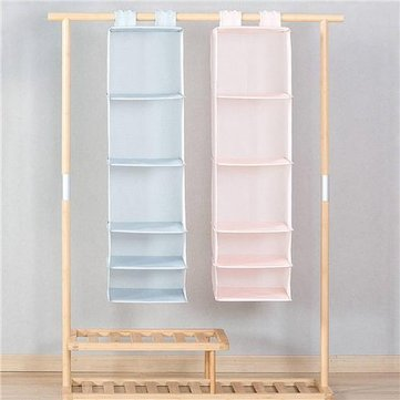 Original Xiaomi Mi Home 5 Layers Hanging Closet Organizer Household Hanging Foldable Storage Bag