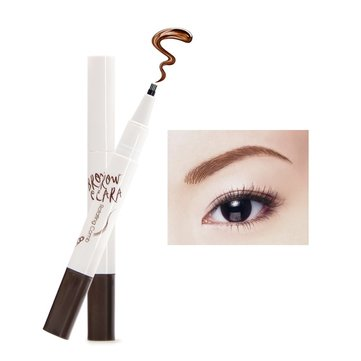 Music Flower Eyebrow Tattoo Pen Brow Ink Pencil Defined Makeup Powder Waterproof