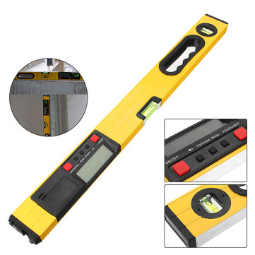 24inch 600mm Protractor Digital Spirit Laser Level Magnetic Level Angle Meter