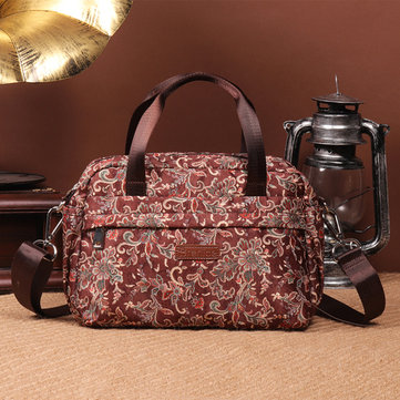 Brenice Multilayer Waterproof Handbag Floral Shoulder Bag