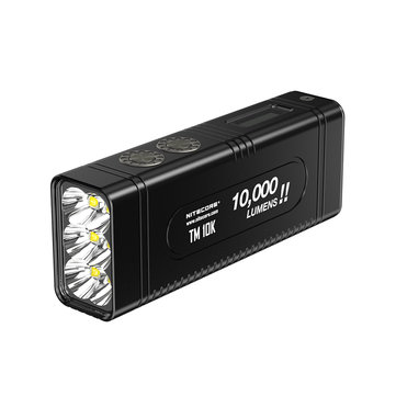 NITECORE TM10K 6x XHP35 HD Tiny Monster 10000 Lumen LCD Display Burst Rechargeable Flashlight