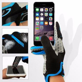 Men Mesh Sponge Cycling Touch Screen Gloves Waterproof Windproof Full Finger Outdoor Sport Mittens