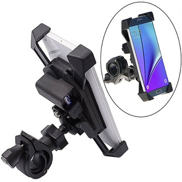 Bike Motorcycle GPS Handlebar Cell Phone Mount Holder Mobile Phone Stand Holder