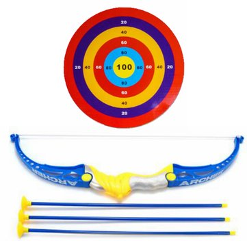 Kids Toy Bow & Arrow Archery Target Aiming Shooting Set Outdoor Garden Fun Game