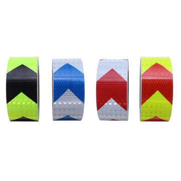 5cmX10m Arrow Lattice Reflective Tape Sticker Safety Warning for Car Truck Roadway Motorcycle
