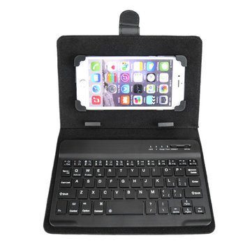 Universal Bluetooth Wireless Keyboard PU Leather Case Cover Stand For iPhone Samsung Tablets PC Android