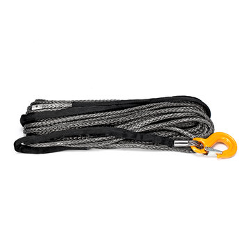New Warrior Black Edition Synthetic Winch Rope High Molecular Polyethylene Fiber Rope Tow Rope
