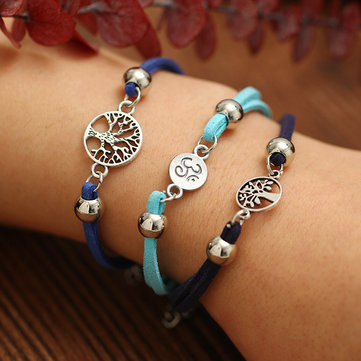 Unisex Ethnic Alloy Hollow Tree Multilayer Anklets Bracelet