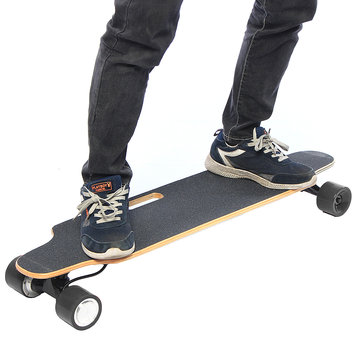 ALFAS 25km/h 500W Electric Skateboard Scooter Remote Control Longboard 7-layer Maple Board Shock Proof Board