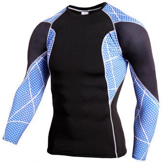 PRO ชายเสื้อกีฬาชนิดใส่ในกระโปรงสั้นสบาย ๆ การออกกำลังกาย เสื้อกีฬาแขนยาว T-shi