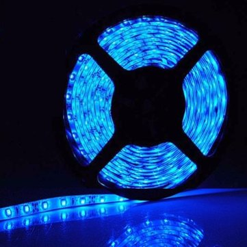 5M 300 LED 3528 SMD Blue Flexible Strip Decorative Light Car Auto Home
