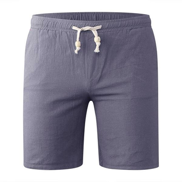 Spring Summer Men's Casual Cotton Linen Shorts