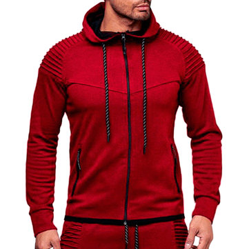 Men's Autumn Zipper Hooded Casual Sweatshirt