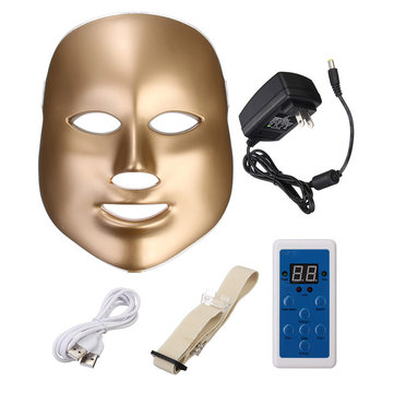LED Photon Skin Rejuvenation Gesichts-Nackenmaske Beauty Therapy Machine Firming Straffende 7 Farben