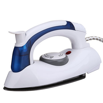 Portable Folding Travel Mini Steam Iron Anti-Drip Non-Stick Stainless steel Soleplate Iron